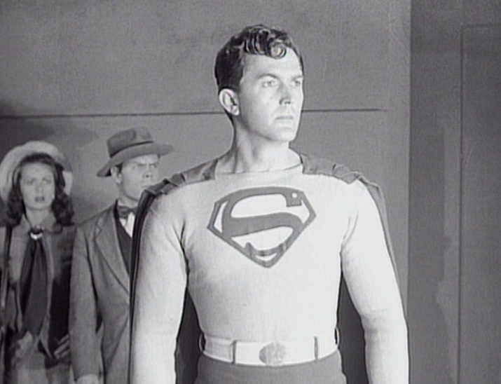 "Superman watches the Spider Lady fry in 1948's ""Superman"" serial."