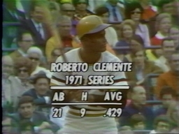 Roberto Clemente in the 1971 World Series