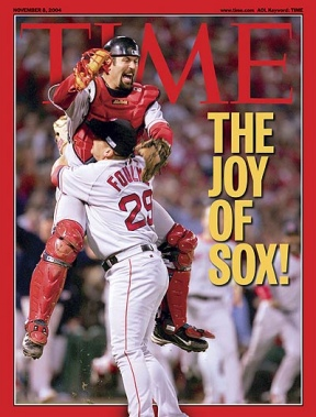 Jason Varitek and Keith Foulke: Time magazine, October 2004