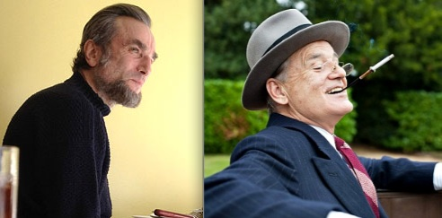 Daniel Day Lewis as Abraham Lincoln and Bill Murray as FDR in two 2012 presidential biopics