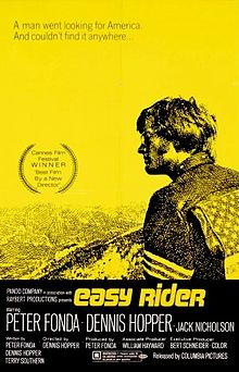 "Peter Fonda as Captain America on the poster for ""Easy Rider"""