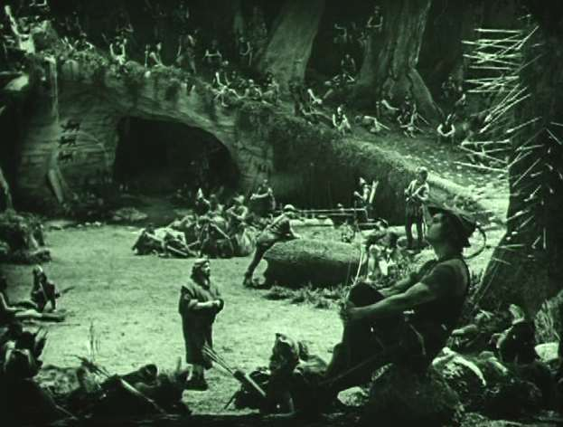 "Sherwood Forest in the 1922 version of ""Robin Hood,"" starring Douglas Fairbanks"