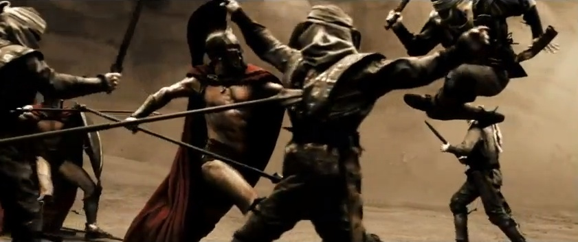"The stylized fascistic violence of ""300"""