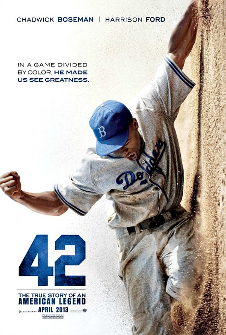 "poster for Jackie Robinson biopic ""42"""