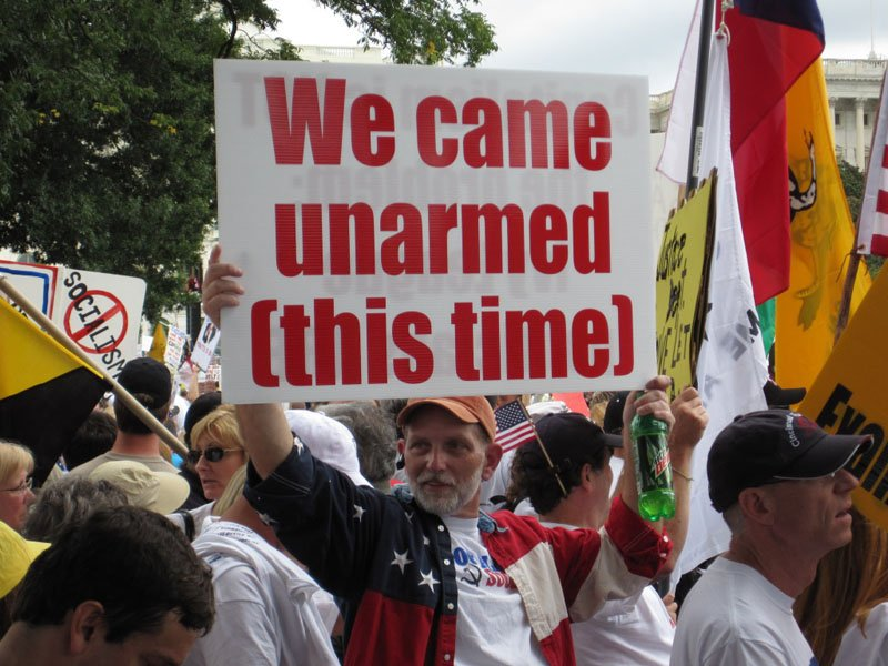 9/12 tea party rally: we came unarmed this time