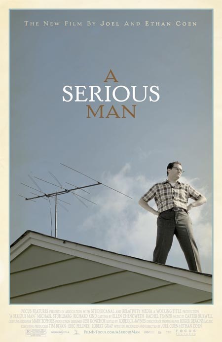 "Poster for ""A Serious Man"" (2009), directed by the Coen Bros."