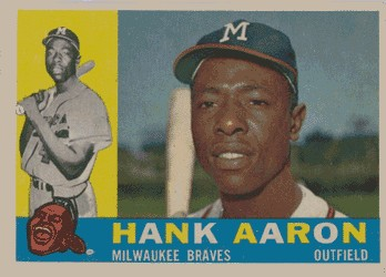 1960 Topps Hank Aaron baseball card