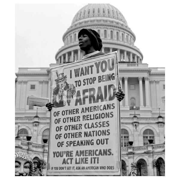 I WANT YOU TO STOP BEING AFRAID: ACT LIKE AMERICANS
