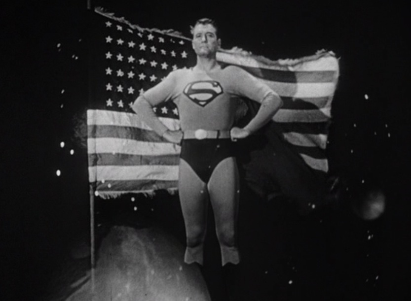 Adventures of Superman open: American flag