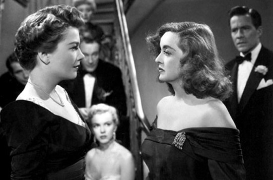 "Bette Davis, Anne Baxter and Marilyn Monroe in ""All About Eve"""