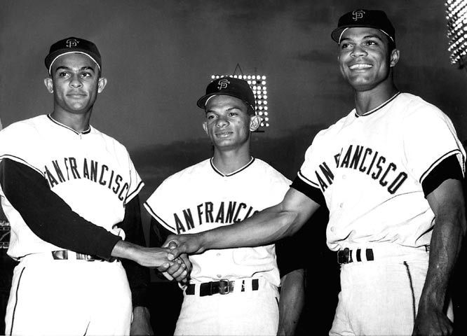 Jesus, Matty and Felipe Alou, with the San Francisco Giants in the early 1960s.