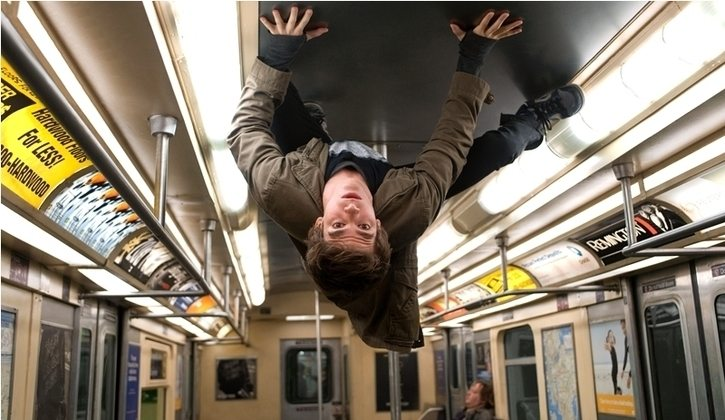 The Amazing Spider-Man: Andrew Garfield, subway