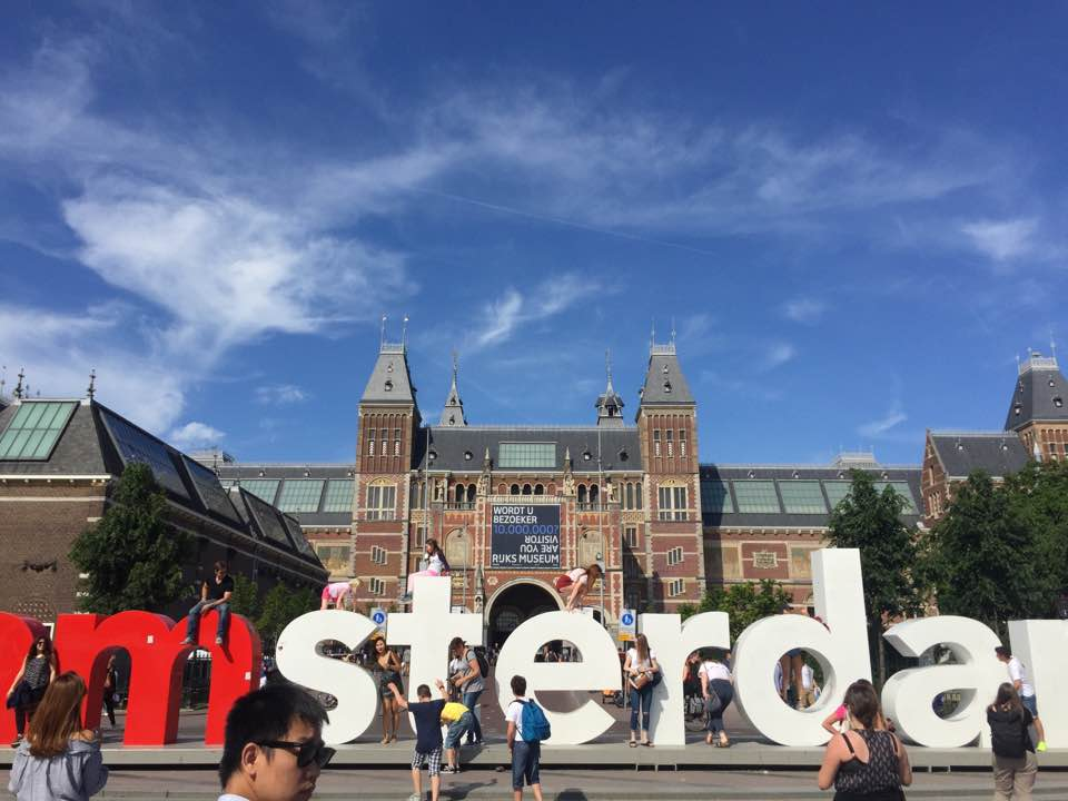 Amsterdam sign by the Rijks Museum