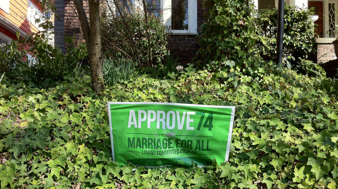 Approve 74 sign, Capitol Hill, Seattle, March 2013