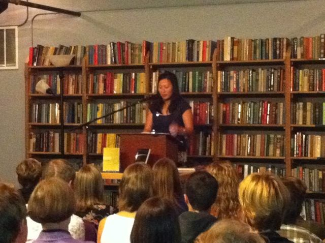 Arlene Kim reading from her book of poetry at Elliott Bay Books, Seattle, September 2011