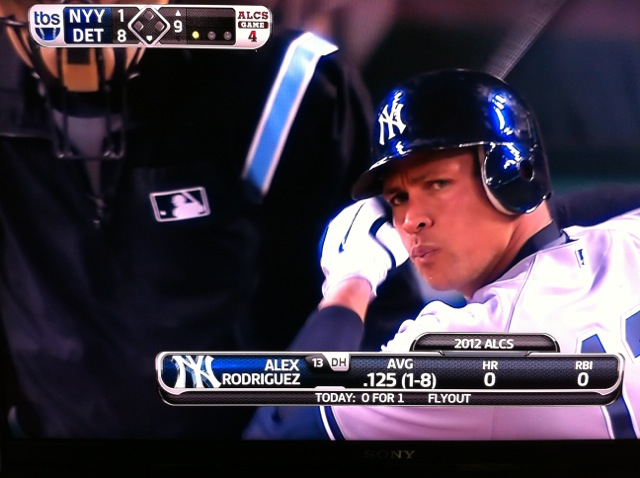 Alex Rodriguez in the second-to-last at-bat of the 2012 Yankees season