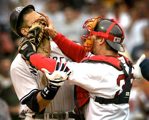 Varitek and A-Rod fight, July 2004