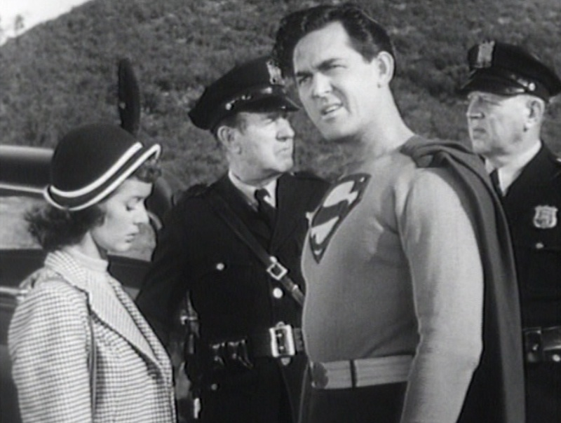 "Superman, confused, in ""Atom Man vs. Superman"" (1950)"