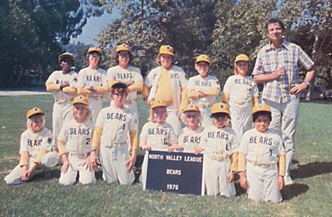 The Bad News Bears team picture, North Valley League, 1976