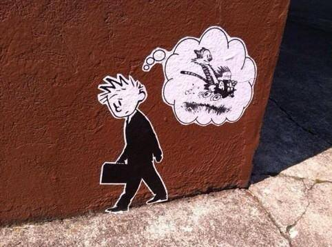 Banksy Calvin and Hobbes