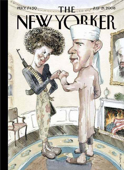 Barry Blitt: Obamas fist bump New Yorker cover