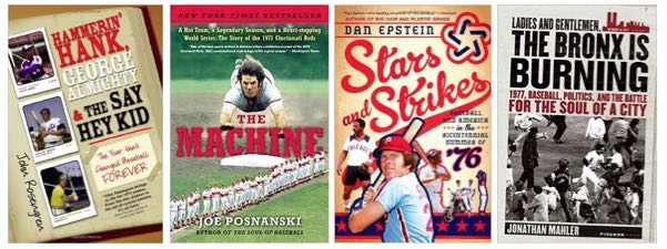 Baseball books about different years in the 1970s