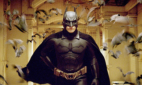 Batman Begins: surrounded by bats