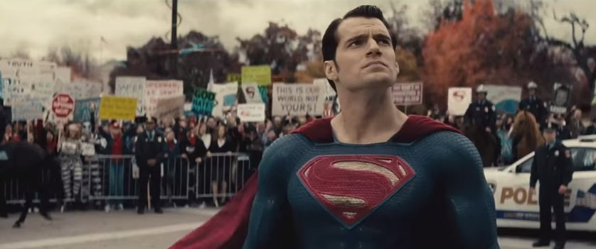 Superman in Batman v. Superman trailer