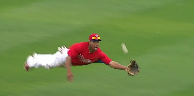 Ben Revere makes the catch in Philadelphia