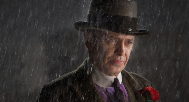 "Nucky Thomspon (Steve Buscemi) in the final episode of season two of ""Boardwalk Empire"""