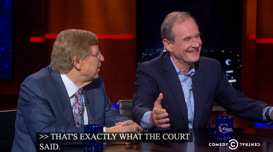 David Boies on Colbert