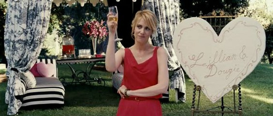 "Wiig salues bridge, groom and Thor in ""Bridesmaids"""