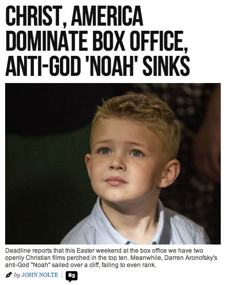 Breitbart site: Christ, America Dominate Box Office
