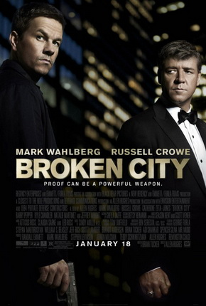 Broken City, starring Mark Wahlberg and Russell Crowe