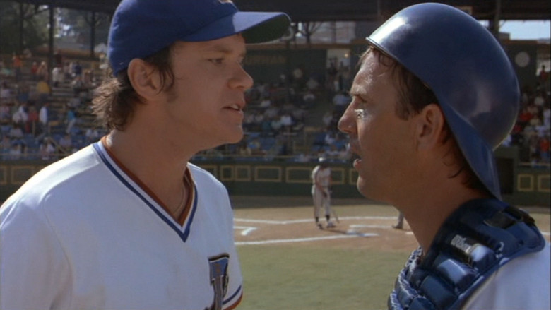 "Tim Robbins and Kevin Costner in ""Bull Durham"""