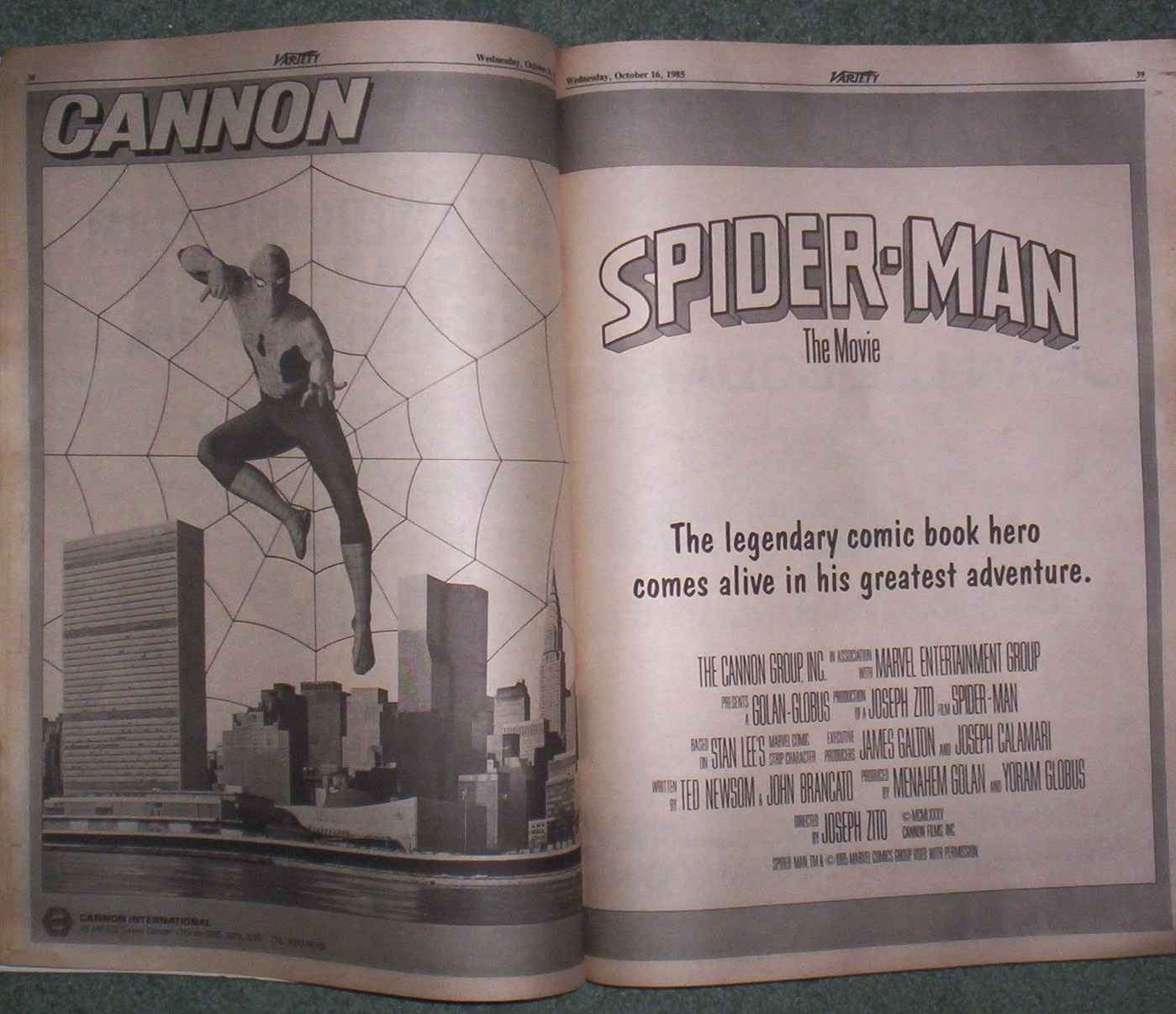 The Spider-Man movie that was never made, produced by Cannon Film