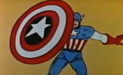 Still from the Captain America theme song (1966)