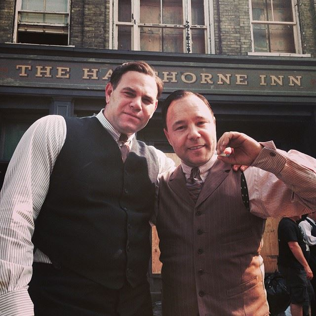Domenick Lombardozzi and Stephen Graham as Ralph and Al Capone in HBO's Boardwalk Empire