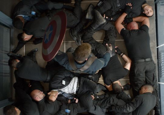 Captain America: elevator fight scene