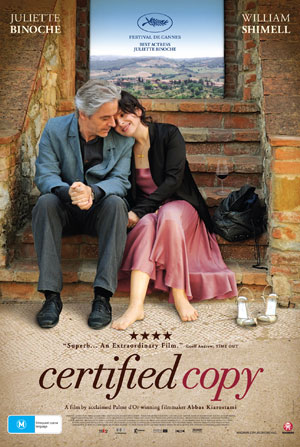"Poster for ""Certified Copy"" (2011)"