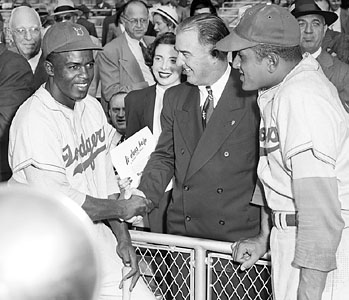 Jackie Robinson, Happy Chandler, and Don Newcombe