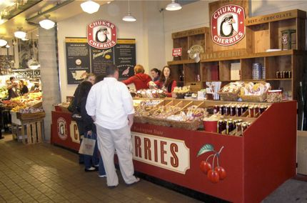 Chukar Cherry Stand at Pike Place Market