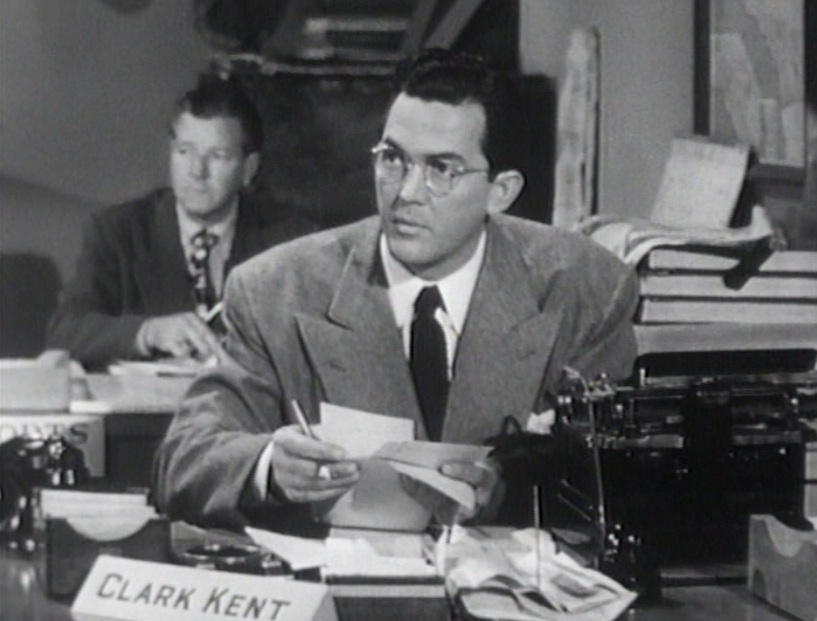 "Kirk Alyn as Clark Kent in ""Superman,"" the serial, 1948"