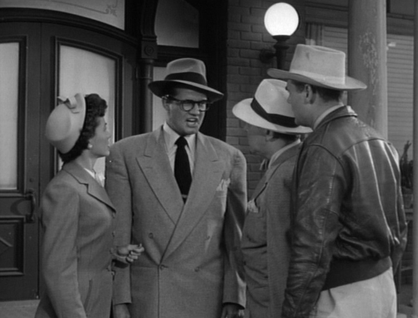 "George Reeves' Clark Kent losing his temper in ""Superman and the Mole Men,"" 1951"