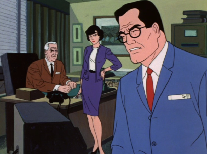 "Clark Kent, sick, in the 1966 cartoon ""The New Adventures of Superman"""