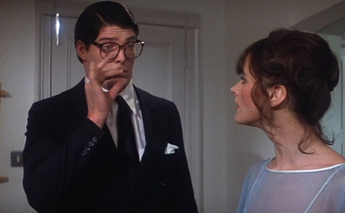 """You haven't been... ?"" Christopher Reeve and Margot Kidder as Clark and Lois in ""Superman: The Movie,"" 1978"