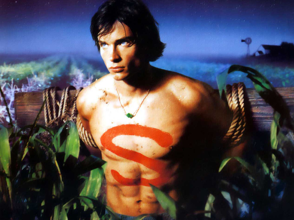 "Tom Welling as Clark in the premiere episode of ""Smallville,"" 2001"