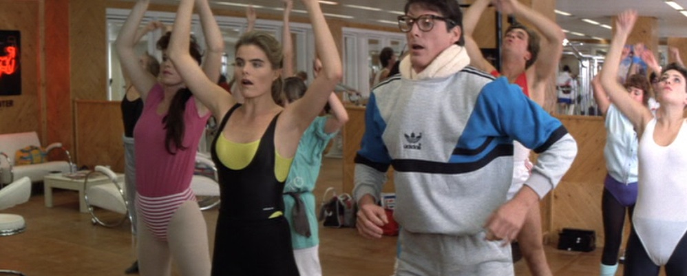 "Clark Kent, aerobics, in ""Superman IV: The Quest for Peace"" (1987)"
