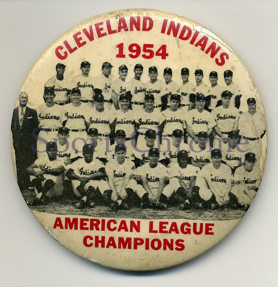 Cleveland Indians 1954 button
