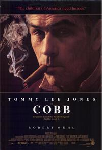 "Poster for ""Cobb"" (1994), starring Tommy Lee Jones and Robert Wuhl"